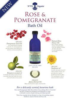 Rose and Pomegranate bath oil.