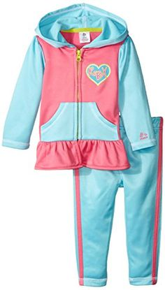 RBX Baby Girls 2 Piece Set   Jacket and Pants   Heart Logo Turquoise 12 Months * Find out more about the great product at the image link.