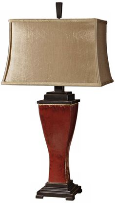 Uttermost Abiona Distressed Red Table Lamp