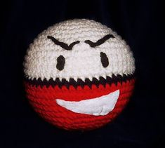 Electrode is another cute but simple to make Pokemon. He's the evolved form of Voltorb and is a little bigger. Also with Electrode, the . Pokemon Crochet Pattern, Pikachu Crochet, Plush Pattern, Amigurumi Patterns, Crochet Patterns, Free Pattern, Crochet Ideas, Knitting Patterns, Knit Or Crochet