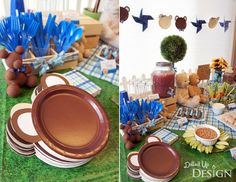 Bear Party Plates (ears attached to brown plates)