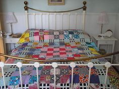 beautiful vintage fabrics quilt