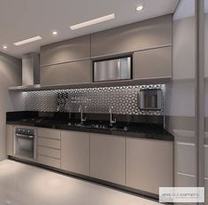 57 extraordinary kitchen design ideas for you that really like the beauty of - Modern Kitchen Modern Kitchen Interiors, Luxury Kitchen Design, Kitchen Room Design, Modern Kitchen Cabinets, Contemporary Kitchen Design, Kitchen Cabinet Design, Home Decor Kitchen, Interior Design Kitchen, Kitchen Furniture