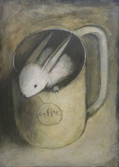 .really the only kind of bunny in a cup I like. An illustrated one!
