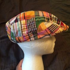 J crew paper boy patchwork hat sz M L New with tags circumference 22