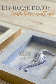 Easy DIY beach decor! Here's a coastal wall art collection you can make for beach bathroom decor or a beach themed living room on a budget. If you love seahorses, seashells or sand dollars in your DIY home decor, you're gonna LOVE all the things you can do with the IOD Sea Shells Mould. Other beach theme ideas you can make - DIY seahorse jewelry, shell soaps, beach cake decorations, shell shaped cookie mold - read on for more! Vintage Headboards, Broken Glass Art, Iron Orchid Designs, Sand Dollars, Beach Bathrooms, Diy Home Decor Bedroom, Living Room On A Budget, Coastal Wall Art, Shaped Cookie