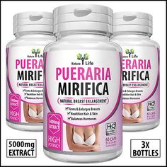 60 Pure Pueraria Mirifica Breast Growth Capsules Bust Enlargement Pills for sale online Male To Female Hormones, Female Hormone Pills, Mtf Hormones, Breast Growth Tips, Transgender Tips, Transgender Hormones, Enlargement Pills, Male To Female Transformation, Vitamins For Women