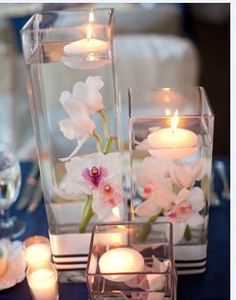 White Orchid Centerpieces