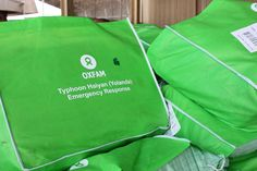 Oxfam has 4 teams in Northern Cebu, Leyte & Samar providing water purification, and we're delivering sanitation kits (seen here) to 10,000 people this week. Overall we're aiming to reach 500,000 people with humanitarian aid. You can help: http://www.oxfam.org/haiyan