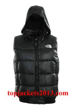 The North Face Outlet Mens Summit Series Hoodie Down Vest Black
