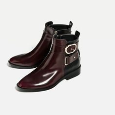 Image 4 of CONTRAST BUCKLE ANKLE BOOTS from Zara