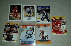 nice 7 HOCKEY CARDS WAYNE GRETZKY 1990 SCORE 200506 MVP JAY BOUWMEESTER UPPER DECK - For Sale