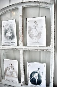 I can use this idea for my antique Westfield postcards! Dishfunctional Designs: Window of Opportunity: Old Salvaged Windows Get New Life As Unique Decor Vintage Windows, Old Windows, Windows And Doors, Antique Windows, Barn Windows, Weekend Projects, Home Projects, Window Shutter Crafts, Reclaimed Windows