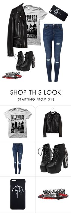 """Untitled #3"" by x-itsalexo-x ❤ liked on Polyvore featuring Yves Saint Laurent, Miss Selfridge, music, emo, Punk, grunge and goth"