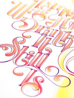 Such pretty type and color. <3 #typography #color #design
