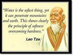 Lao Tzu softness overcoming hardness