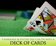 Deal with It: 5 Simple Language Activities You Can Do with a Deck of Cards. Post talks about English, but ideas can be adapted for the French classroom! Spanish Teaching Resources, Spanish Activities, Language Activities, Spanish Games, Classroom Language, Classroom Activities, Music Classroom, French Classroom, Spanish Classroom