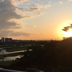 Sunset in Futakotamagawa. by nobihaya via Instagram w/ifttt