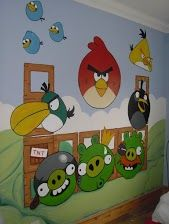 Jack 39 s bathroom ideas on pinterest angry birds canvas for Angry birds wall mural