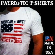 100% American Made T-Shirts for both men and women.  Check us out! www.redwhiteblueapparel.com