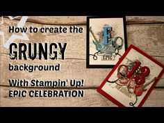 Background detail to epic celebration card, Grungy, watercolour look, stampin up, saleabration - YouTube