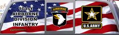 Army 101st Airborne Division Screaming Eagles Window Graphic.