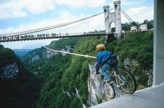 Seems fun yet terrifying..... And I would drop my bike:O