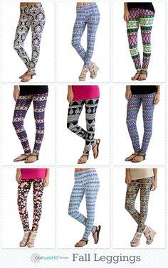 TWO patterned leggings