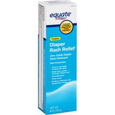 Equate Creamy Diaper Rash Relief Zinc Oxide Ointment, 4 oz - Walmart.com