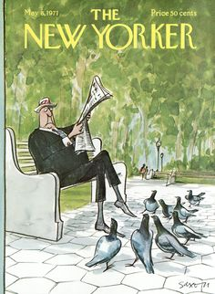 The New Yorker - Saturday, May 8, 1971 - Issue # 2412 - Vol. 47 - N° 12 - Cover by : Charles Saxon