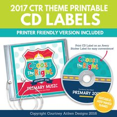 music cd labels