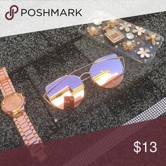 Rose Gold Mirror Shades🕶 Never worn before, these are brand new! They just came in! •Mirror shades •Rose Gold •Brand new *PRICE IS FIRM* Accessories Sunglasses