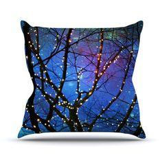 "Sylvia Cook ""Holiday Lights"" Christmas Outdoor Throw Pillow"