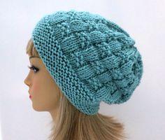 PDF 150 Вязание Pattern Адель сделать громоздкая Hat, TOQUE, Beanie, зимняя шапка дизайн, женщина Hat, подростков Hat, сутулость Hat Tam громоздкая Hat
