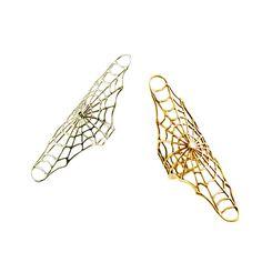 ayakanishi — Spider Web Bracelet with Spider Ring