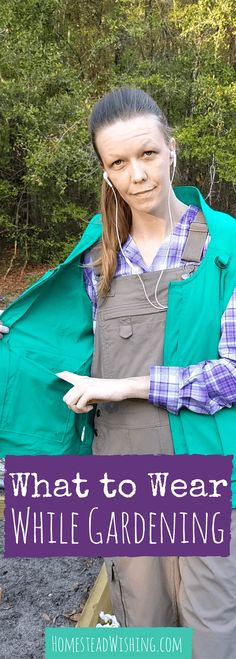Breathable, cool, soft, and comfortable. That's what I want out of my gardening clothes. Check out my solution for what to wear while gardening. | Homestead Wishing, Author Krist Wheeler | http://homesteadwishing.com/what-to-wear-while-gardening-gardening-clothes/ | gardening-clothes, what-to-wear-while-gardening, spring-garden |