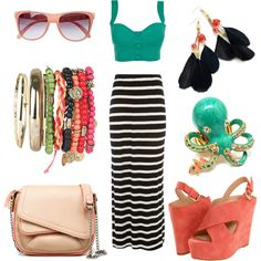 Summer Stripes, created by cecilia-ann on Polyvore
