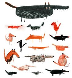ericasalcedo:  Foxes and wolves. 2012  www.ericasalcedo.com