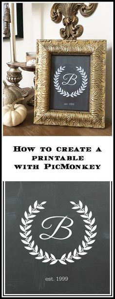 """See how easy it is to use PicMonkey to create printables, cards, party invites and more. This Free program functions like Photoshop but it is much easier--and {hint!} you can still """"touch up"""" your photos before you put them on social media."""