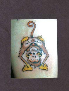 5e0df7a7b9501 35 Best Monkey Tattoo Flash images in 2017 | Monkey tattoos, Cartoon ...