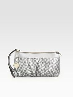 Want! Gucci Silver Heart Wristlet