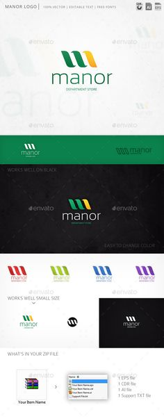 Manor Letter M - Logo Design Template Vector #logotype Download it here: http://graphicriver.net/item/manor-letter-m-logo-template/10368242?s_rank=1233?ref=nexion