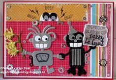 Afbeeldingsresultaat voor robot marianne design 1st Birthday Cards, Birthday Kids, Robot Illustration, Illustrations, Craft Punches, Marianne Design, Punch Art, Kids Cards, Robots