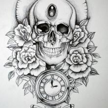 25 Best New School Sugar Skull Tattoo Designs Images Skull Tattoo