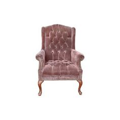The Lila: Vintage Dusty Plum Velvet Tufted Wingback Arm Chair || Something Vintage Rentals: Vintage rentals and handcrafted pieces for weddings and events in DC, Maryland, and Virginia ||