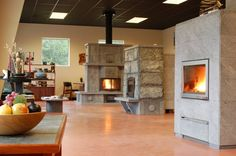 Tulikivi Soapstone Fireplace & Bakeovens for comfortable and healthy home heating from Mid-Atlantic Masonry Heat Wood Stove Heater, Fireplace Heater, Wood Heaters, Soapstone Stove, Tiny House Stairs, Cast Iron Stove, Virginia Homes, West Virginia, Traditional Fireplace