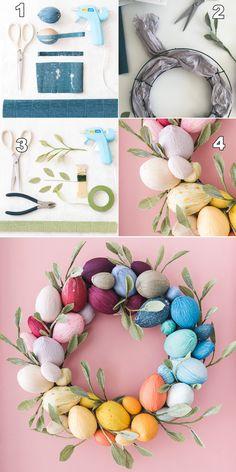 Diy Crafts Hacks, Diy Crafts To Sell, Egg Crafts, Easter Crafts, Easter Bunny Decorations, Flower Decorations, Diy Projects For Kids, Crafts For Kids, Easter Gift