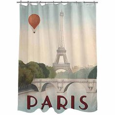 Thumbprintz City Skyline Paris Shower Curtain: Bath : Walmart.com