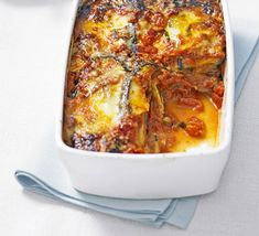 Melanzane Parmigiana (BBC GoodFood). A simple version with 8 ingredients (and no flouring the aubergine slices).