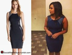 Buy Mindy Kaling's Connections 2014 Leather Panel Dress, here!